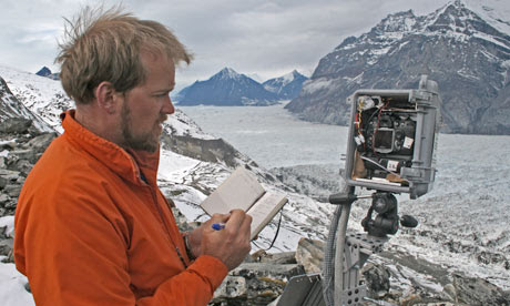 Scientist Jason Box during an expedition in Greenland