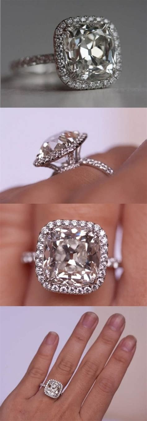 5.01 carat antique style cushion cut diamond. I would die