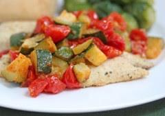 tonno e zucchine,tonno,zucchine,pomodori,secondo di pesce,pesce,
