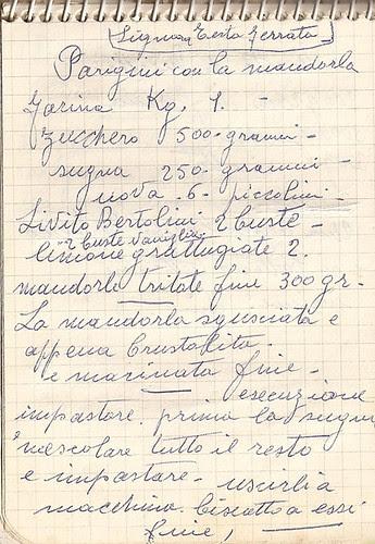 Dal quaderno di nonna Maria