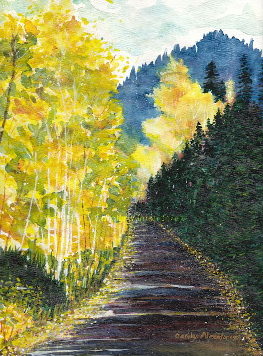 Autumn Mountain Road | Carolyn Almendarez Art
