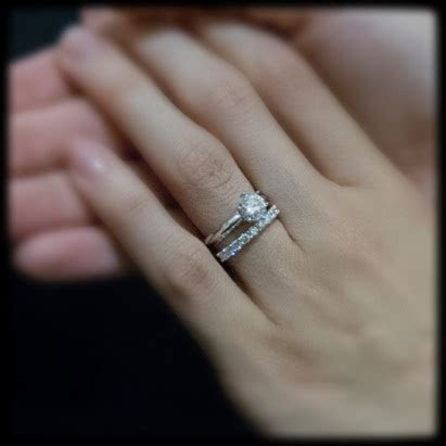 Wedding band to go with knife edge engagement ring?