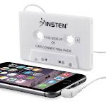 Insten Universal Car Audio Cassette Adapter, White For Apple iPhone 6 6s SE 5 5s Samsung Galaxy S7 S6 S5 S4 Note 5 4 3 LG K7 V10 G Stylo Leon G4 G3 G2