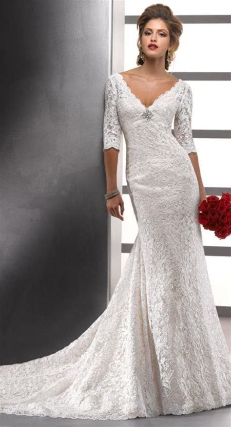 Maggie Sottero MEREDITH ROSE   Lace long sleeve wedding