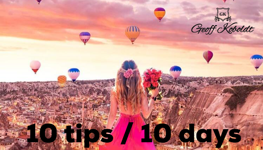 10 tips, 10 days - actionable tips to change your life.
