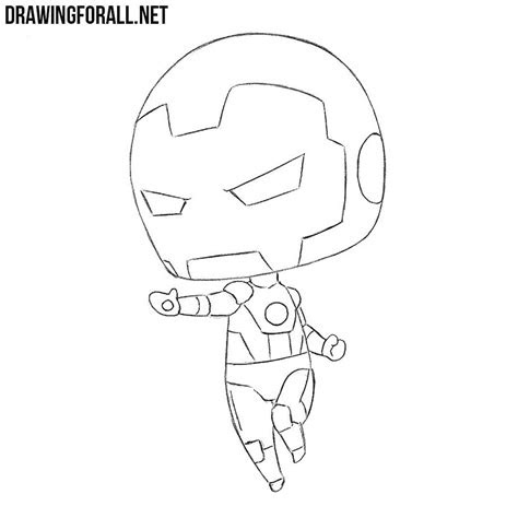 draw chibi iron man drawingforallnet