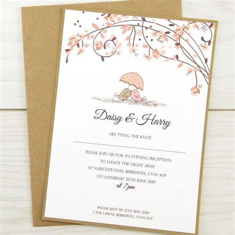 Love Birds Evening Invitation   Pure Invitation Wedding