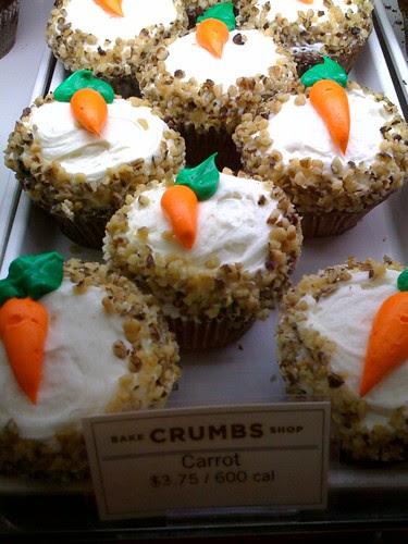 Crumbs Bakeshop Midtown NYC carrot cupcakes