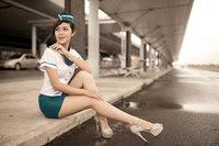 đồng phục của cô gái tiep vien hang khong nga