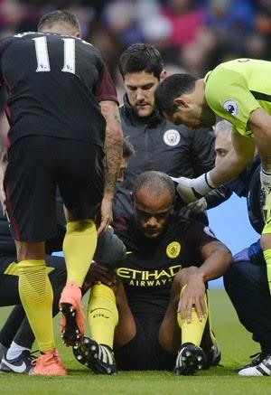 Kompany Manchester City x Crystal Palace (Foto: Reuters)