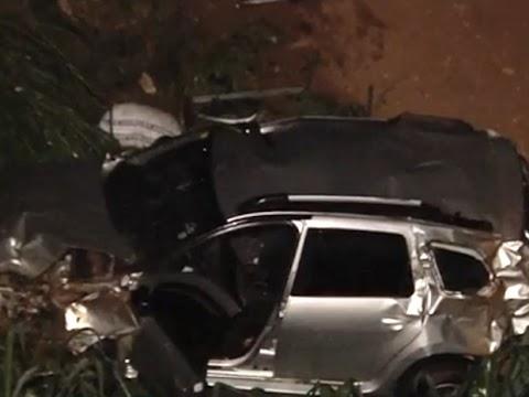 Nove pessoas ficam feridas em série de acidentes que envolveu 10 veículos