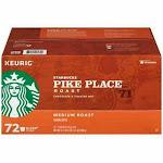 Starbucks Pike Place Medium Roast 72 Count K-Cup Pods