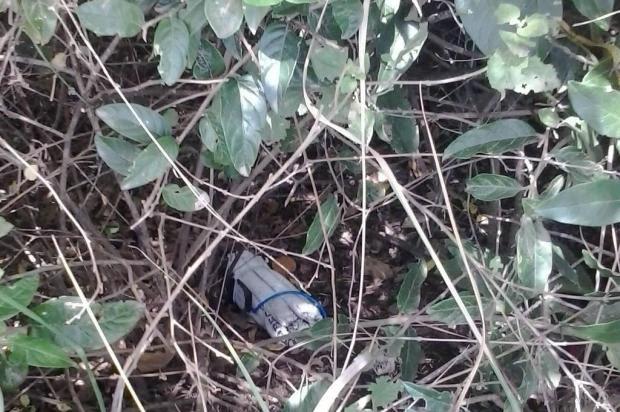Polícia começa a rastrear origem de dinamites deixadas à beira da BR-472, em Itaqui Divulgação/Polícia Civil de Itaqui