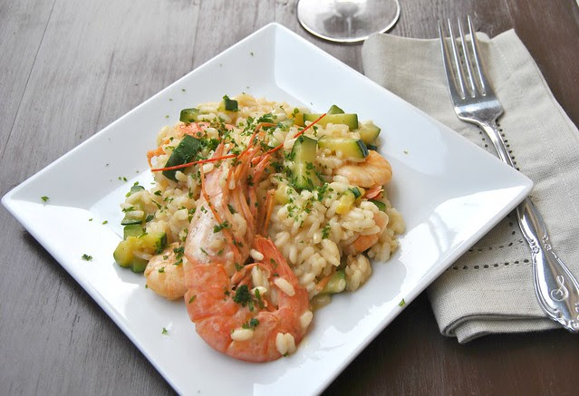 Shrimp and Zucchini Risotto