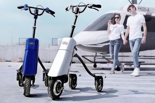 VehiGo, Alllu's Foldable Electric Scooter, Launches on Kickstarter with 15mins Quick Charge
