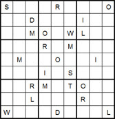 Mystery Godoku Puzzle for June 02, 2014