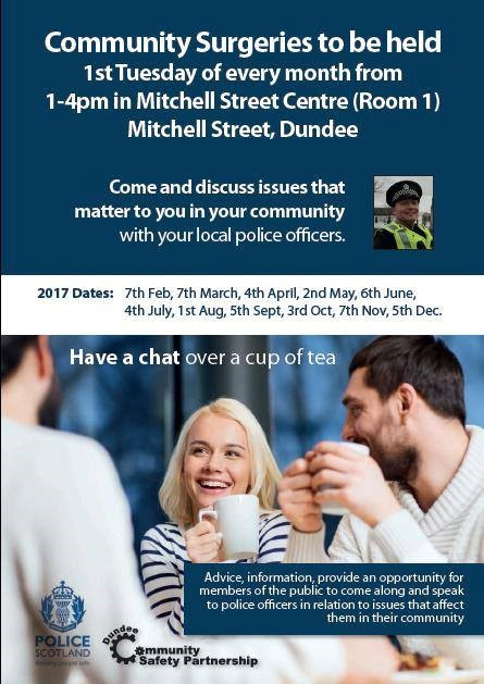 Police Community Surgeries in the West End   #dundeewestend
