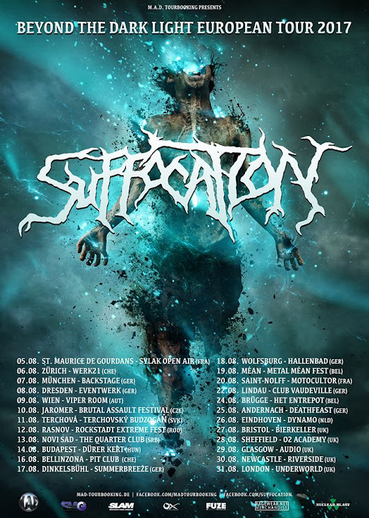 DEMON NEWS: Suffocation announce''Beyond The Dark Light'' European Tour 2017 in August!