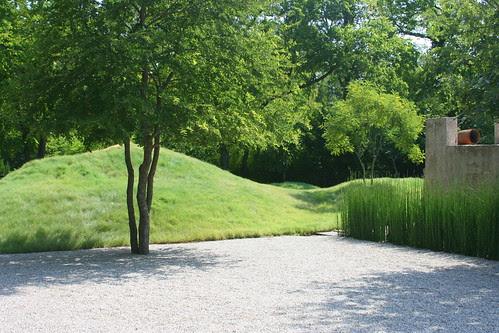 Pump House Garden grassy hillocks