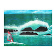 WindSurfer Wind Surfing in Hawaii Seascape Wrappe Gallery Wrapped Canvas from Zazzle.com