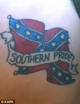 Bauswell said '99 percent of the reason' why he got 'Southern Pride' in addition to the flag was because he did not want the tattoo to be seen as racist