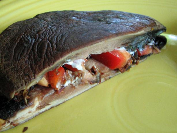 Portabella Panini With Gorgonzola Cheese and Sun-Dried Tomatoes. Photo by Brooke the Cook in WI