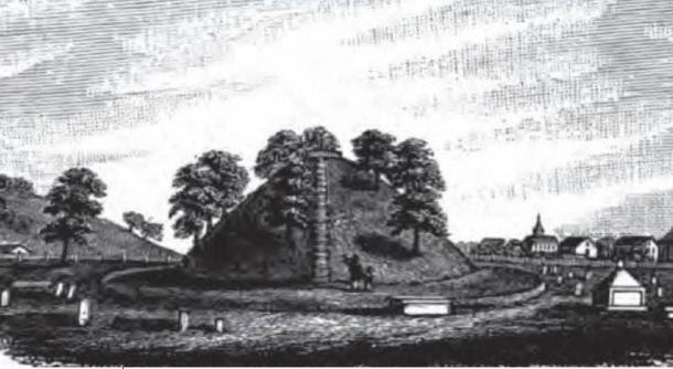 Sketch of the Conus Mound in Marietta