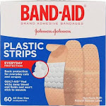 Band-Aid Plastic Strips Bandages, One Size, 60 Ct