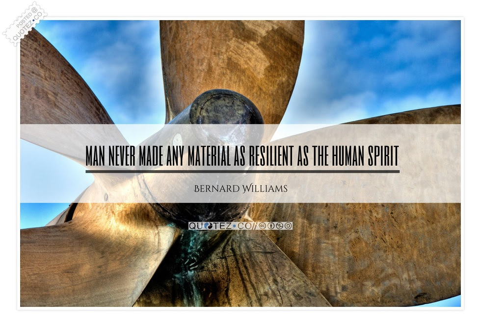 Material As Resilient As The Human Spirit Wisdom Quote Quotezco