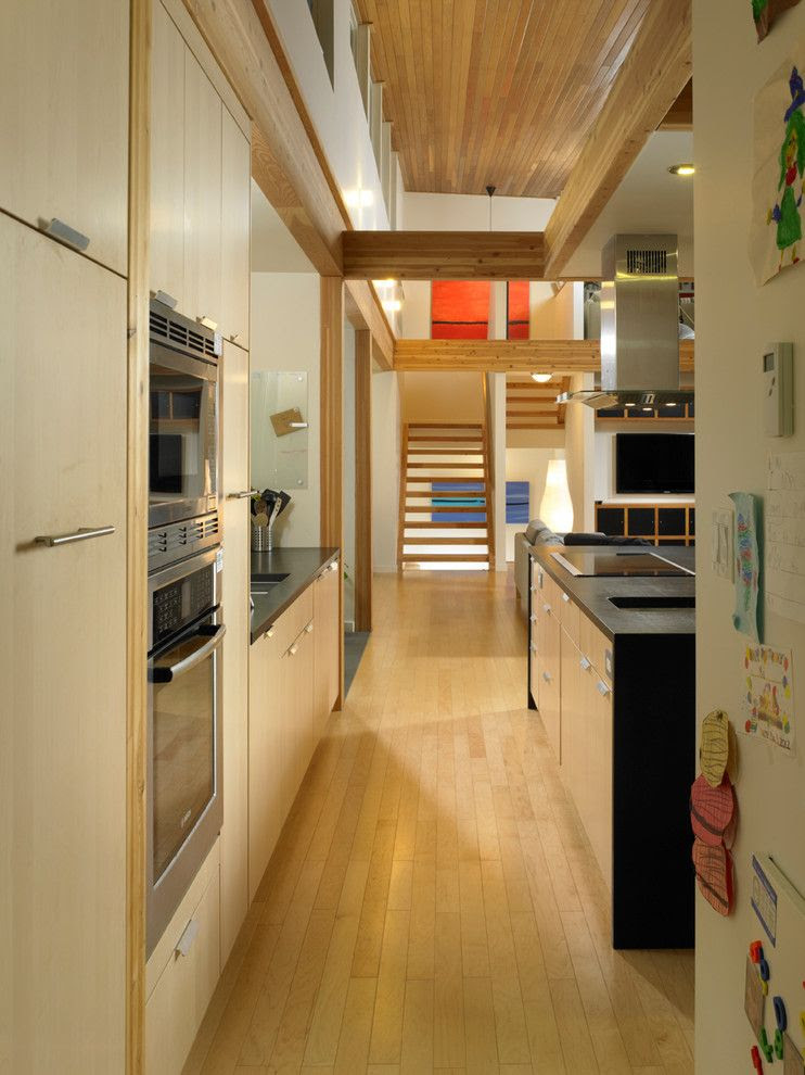 Turkel Design For A Contemporary Kitchen With A Cedar And Turkel