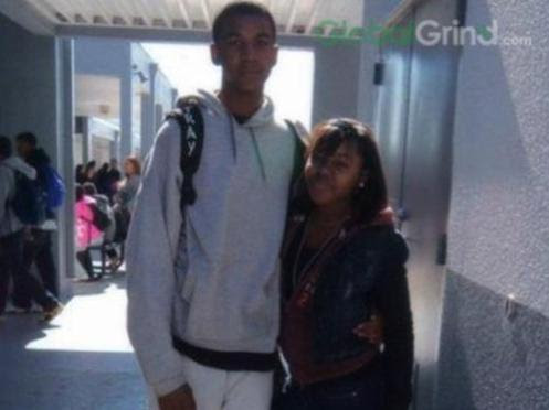 Trayvon Martin with another young girl friend before his killing (Courtesy: Global Grind)