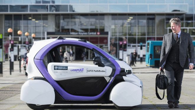 Driverless car tested in public in UK