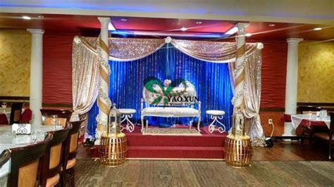 design royal blue color wedding backdrop