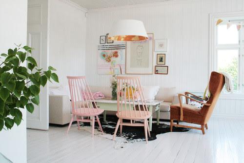 My white Scandinavian home. Splash of colors. Old & new. Always in change. eclectic living room