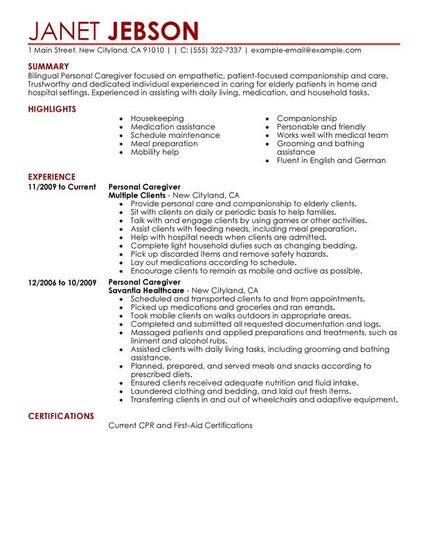 personal care personal care and services personal care resume sample personal care assistant resume responsibilities by janet jebson