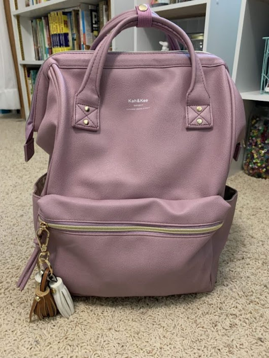 This bag is Amazing! Kah&Khee Lavender Backpack! - Day to Day Life