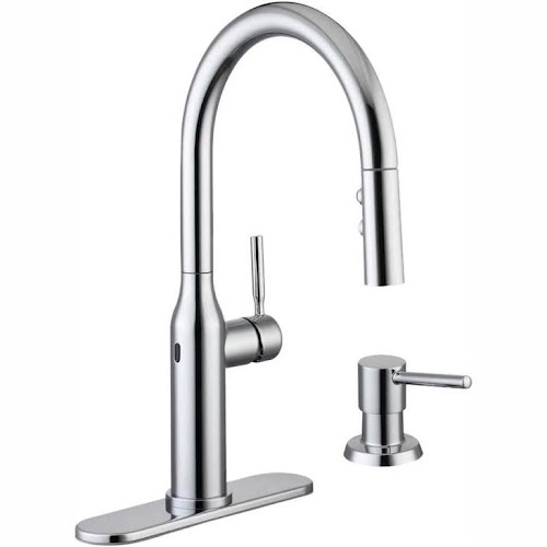 Glacier Bay Upson Single-Handle Touchless Pull-Down Kitchen ...