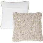 Lavish Home 66-07-BI 18 in. Modern Textured Decorative Throw Pillow & Insert Ivory