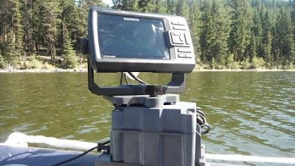 Float tube fanatics fish finder mounts com google for Float tube fish finder