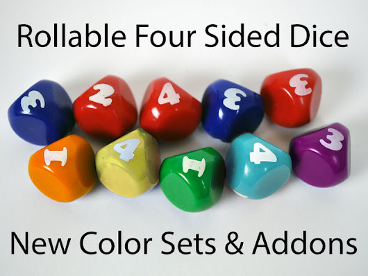 d4 - Rollable 4 Sided Dice