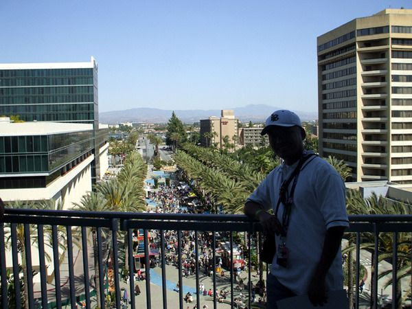 Enjoying a nice view of Orange County from the 3rd floor balcony of the Anaheim Convention Center...on April 16, 2015.