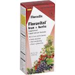 Floradix Floravital Iron & Herbs Liquid Extract Formula - 8.5 fl oz bottle