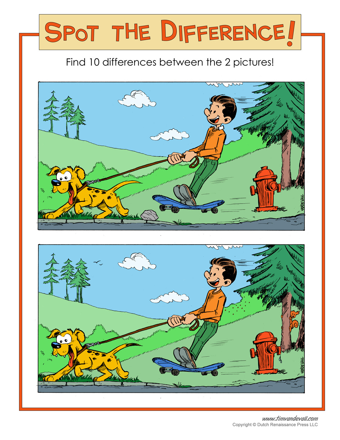 Spot the Difference Printable - Tim van de Vall