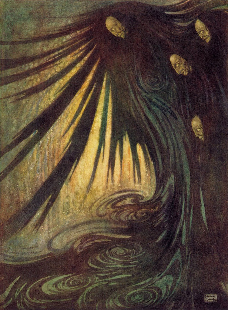 """Edmund Dulac - 'The Haunted Palace' from """"The Bells and Other Poems"""" (1912)"""