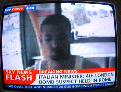 Sky News report that 4th London Bombing suspect has been arrest in Rome