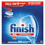 Reckitt Benckiser 81049 Powerball Dishwasher Tabs Fresh Scent 32-Box