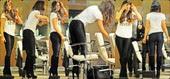 Kate Beckinsale Leggins Lycra Ajustados Con Botas