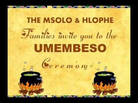 Umembeso video invitation   YouTube