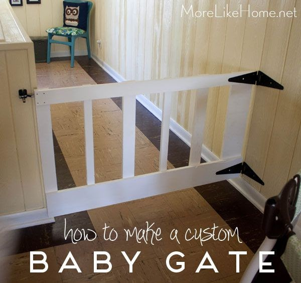More Like Home Diy Swinging Baby Gate