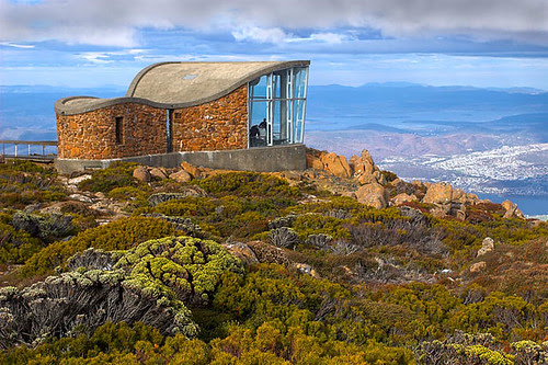 Mount Wellington, Hobart, Tasmania, Australia Pinnacle Shelter IMG_8394-01_Mount_Wellington_Hobart